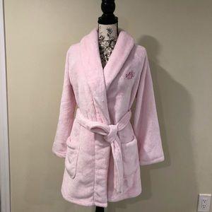VICTORIA'S SECRET Cozy Plush Short Robe Light Pink